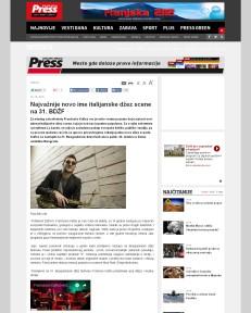 2010 - pressonline.rs - Najvaznije novo ime italijanske dzez scene na 31. BDZF