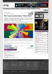 2010 - rtv.rs - PA U susret dzez festivalu - Musica nuda