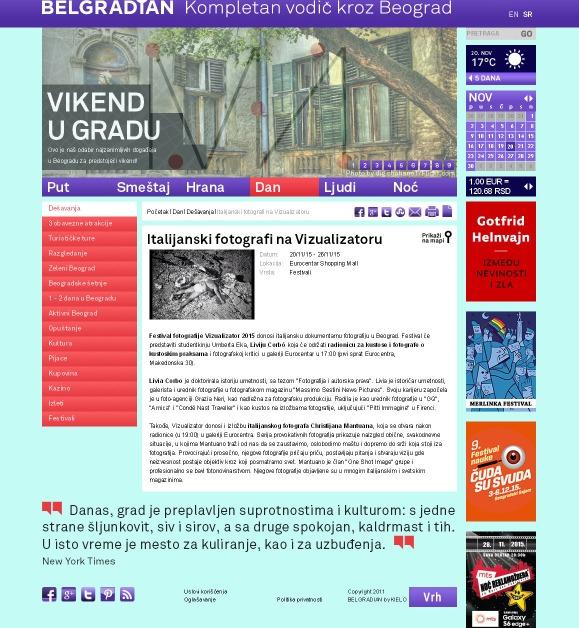 2011 - belgradian.com - Italijanski fotografi na Vizualizatoru