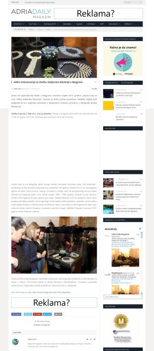 2101 - adriadaily.com - Veliko interesovanje za izlozbu italijanske bizuterije u Beogradu
