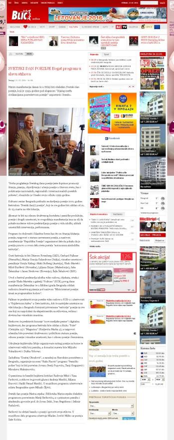 2103 - blic.rs - SVETSKI DAN POEZIJE Bogat program u slavu stihova