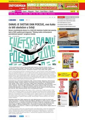 2103 - informer.rs - DANAS JE SVETSKI DAN POEZIJE, evo kako ce biti obelezen u Srbiji