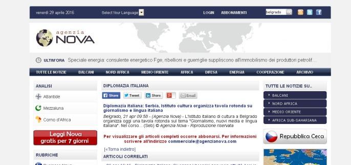 2104 - agenzianova.com - Diplomazia italiana- Serbia, Istituto cultura organizza tavola rotonda su giornalismo e lingua italiana