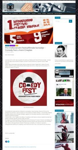 2105 - blockbuster.rs - Prvi medjunarodni festivalfilmske komedije – Comedy Fest u Areni Cineplex
