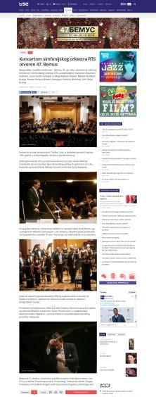 2110 - b92.net - Koncertom simfonijskog orkestra RTS otvoren 47. Bemus