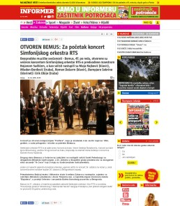 2110 - informer.rs - OTVOREN BEMUS- Za pocetak koncert Simfonijskog orkestra RTS