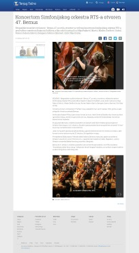 2110 - tanjug.rs - Koncertom Simfonijskog orkestra RTS-a otvoren 47. Bemus