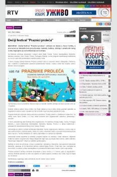 2204 - rtv.rs - Deciji festival Praznici proleca