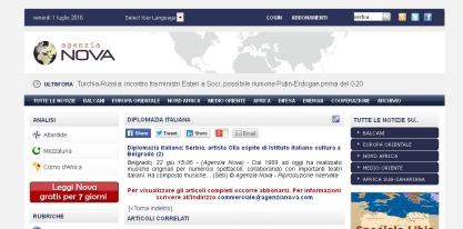 2206 - agenzianova.com - Diplomazia italiana- Serbia, artista Olla ospite di Istituto italiano cultura a Belgrado (2)