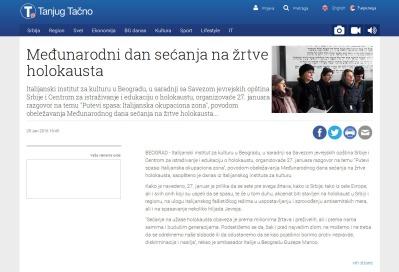 2501 - tanjug.rs - Medjunarodni dan secanja na zrtve holokausta