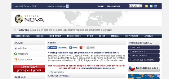 2502 - agenzianova.com - Serbia- presentato oggi programma nuova edizione Festival danza