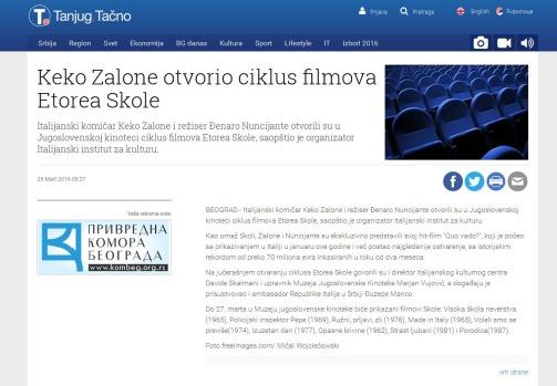 2503 - tanjug.rs - Keko Zalone otvorio ciklus filmova Etorea Skole