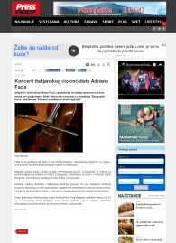 2504 - pressonline.rs - Koncerti italijanskog violonceliste Adriana Fazia