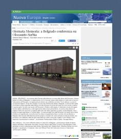 2601 - ansa.it - Giornata Memoria- a Belgrado conferenza su Olocausto Serbia