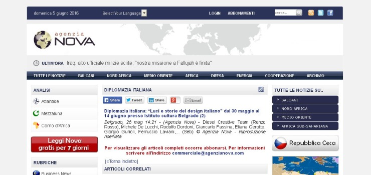 """2605 - agenzianova.com - Diplomazia italiana- """"Luci e storie del design italiano"""" dal 30 maggio al 14 giugno presso Istituto cultura Belgrado (2)"""