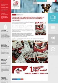 2605 - akademijaumetnosti.edu.rs - Filmovi reditelja Akademije umetnosti u Beogradu na prvom medjunarodnom festivalu filmske komedije Comedy fest