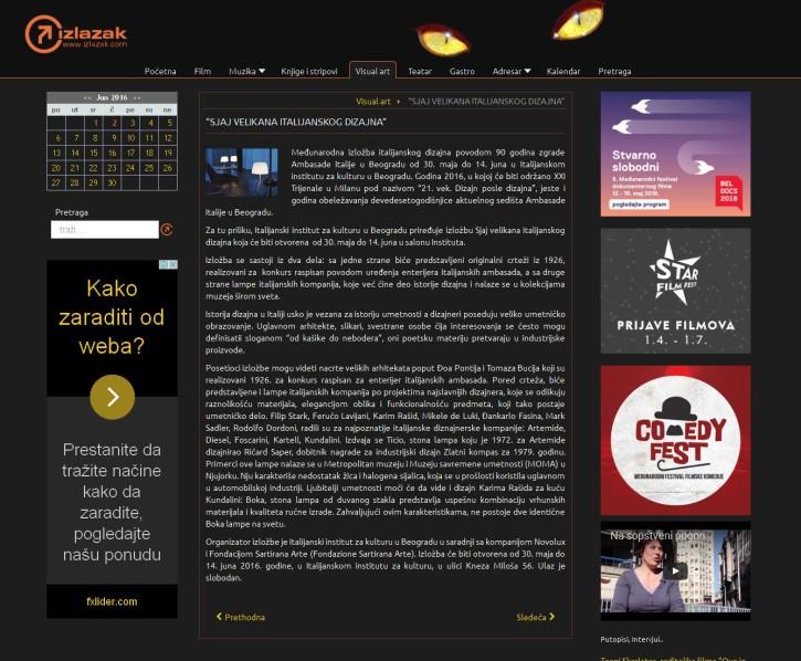 2705 - izlazak.com - SJAJ VELIKANA ITALIJANSKOG DIZAJNA