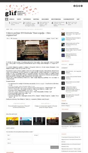2706 - glif.rs - Uskoro pocinje XVI festivala Dani orgulja Dies organorum
