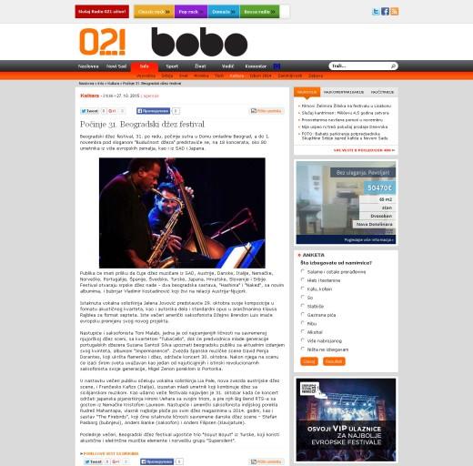 2710 - 021.rs - Pocinje 31. Beogradski dzez festival