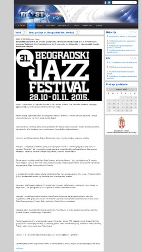 2710 - tvmost.info - Sutra pocinje 31. Beogradski dzez festival