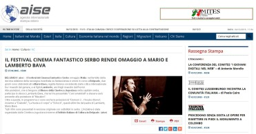 2712 - aise.info - IL FESTIVAL CINEMA FANTASTICO SERBO RENDE OMAGGIO A MARIO E LAMBERTO BAVA