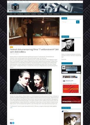 2901 - blockbuster.rs - Festival dokumentarnog filma 7 velicanstvenih zeli vam dobrodslicu