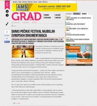 2901 - casopisgrad.com - Danas pocinje festival najboljih evropskih dokumentaraca