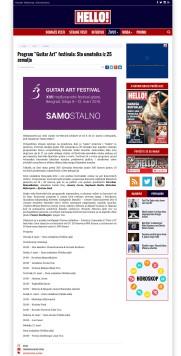 2902 - hellomagazin.rs - Program Guitar Art festivala- Sto umetnika iz 25 zemalja