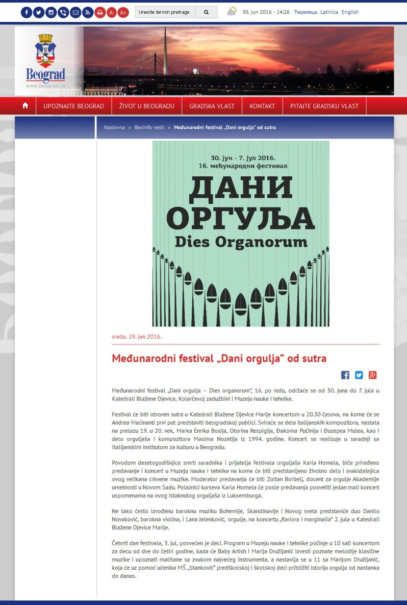 2906 - beograd.rs - Medjunarodni festival Dani orgulja od sutra