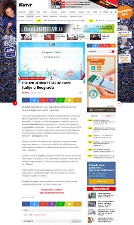 2910 - kurir.rs - BUONGIORNO ITALIA- Dani Italije u Beogradu