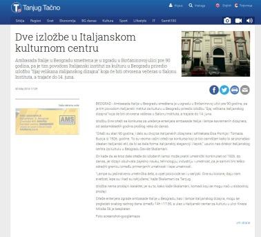 3005 - tanjug.rs - Dve izlozbe u Italjanskom kulturnom centru