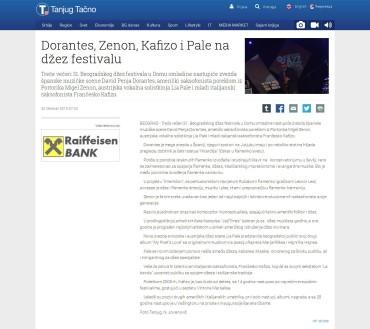 3010 - tanjug.rs - Dorantes, Zenon, Kafizo i Pale na dzez festivalu