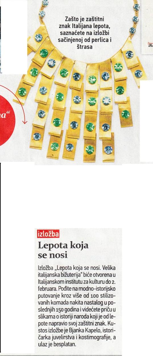 Blic Zena magazine, 16.01.2016