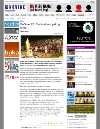 1607 - e-novine.com - Pocinje 23. Festival evropskog filma