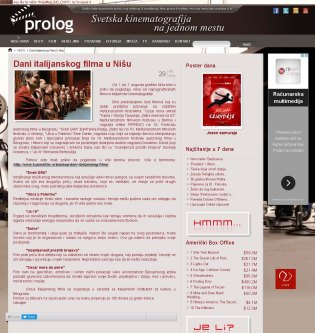 3007 - prolog.rs - Dani italijanskog filma u Nisu