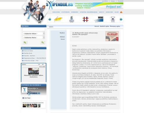 0103 - stipendije.rs - 14. Medjunarodni sajam obrazovanja