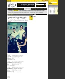 0303 - kcb.org.rs - Koncert pijanista Kristine Blazic, Petra Toskova i Milana Djukica