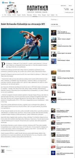 0903 - politika.rs - Balet Britanske Kolumbije na otvaranju BFI