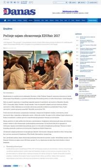 1003 - danas.rs - Pocinje sajam obrazovanja EDUfair