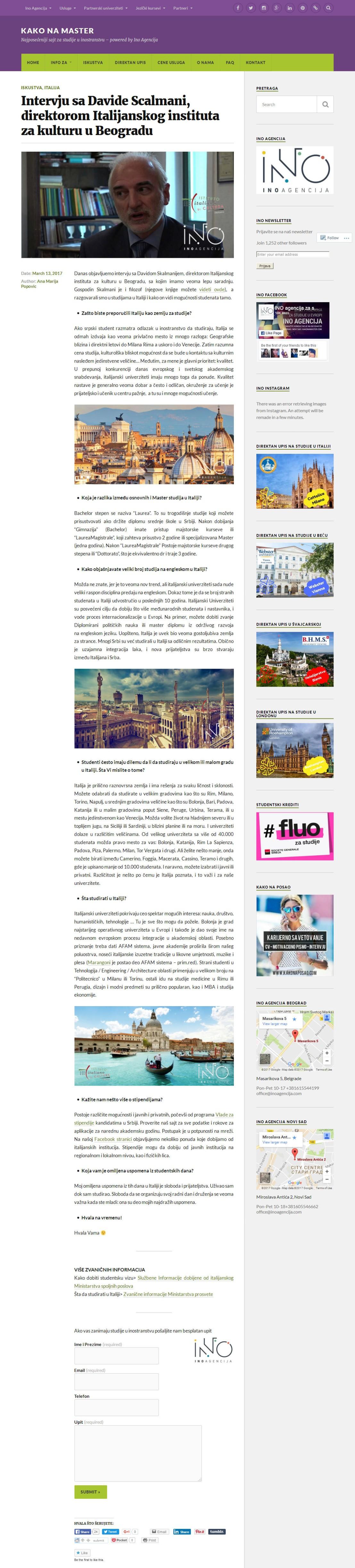 1303 - kakonamaster.com - Intervju sa Davide Scalmani, direktorom Italijanskog instituta za kulturu u Beogradu.jpg