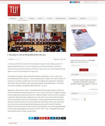 1303 - tumagazin.rs - Na pragu 14. edicije Beogradskog festivala igre