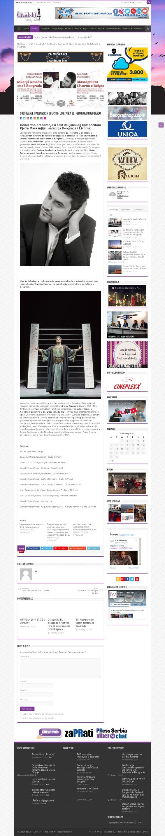 1602 - gradskimagazin.rs - Gostovanje italijanskih operskih umetnika 20. februara u Beogradu