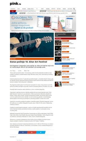 1903 - pink.rs - Danas pocinje 18. Gitar Art Festival