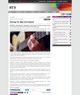 2003 - rtv.rs - Pocinje 18. Gitar Art Festival
