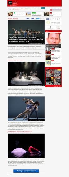2003 - srbijadanas.com - Volite balet, a nemate ni+íta novo da pogledate Imamo super vest za vas - POCINJE BEOGRADSKI FESTIVAL IGRE