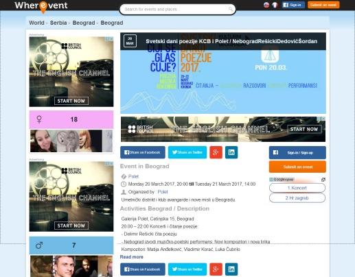 2003 - wherevent.com - Svetski dani poezije KCB i Polet
