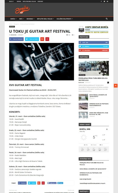 2103 - borca.info - U toku je Guitar Art festival