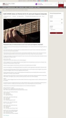2103 - crystalcode.rs - DANI GITARE- Guitar Art Festival od 20.-25. marta pod sloganom Integracije