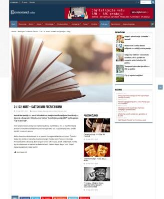 2103 - ekonomski.net - 21. i 22. mart - Svetski dani poezije u Srbiji