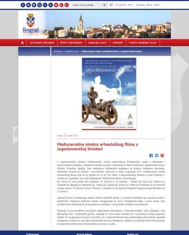 2203 - beograd.rs - Medjunarodna smotra arheoloskog filma u Jugoslovenskoj kinoteci